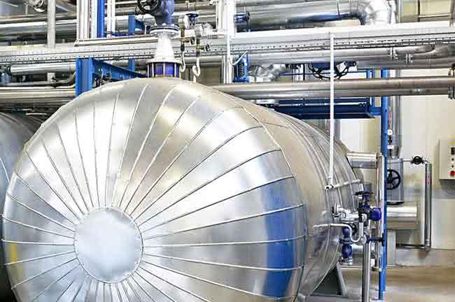 Produktion Dampfkessel